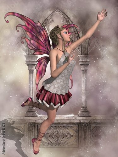 Aluminium Prints Fairies and elves Buttercup Fairy