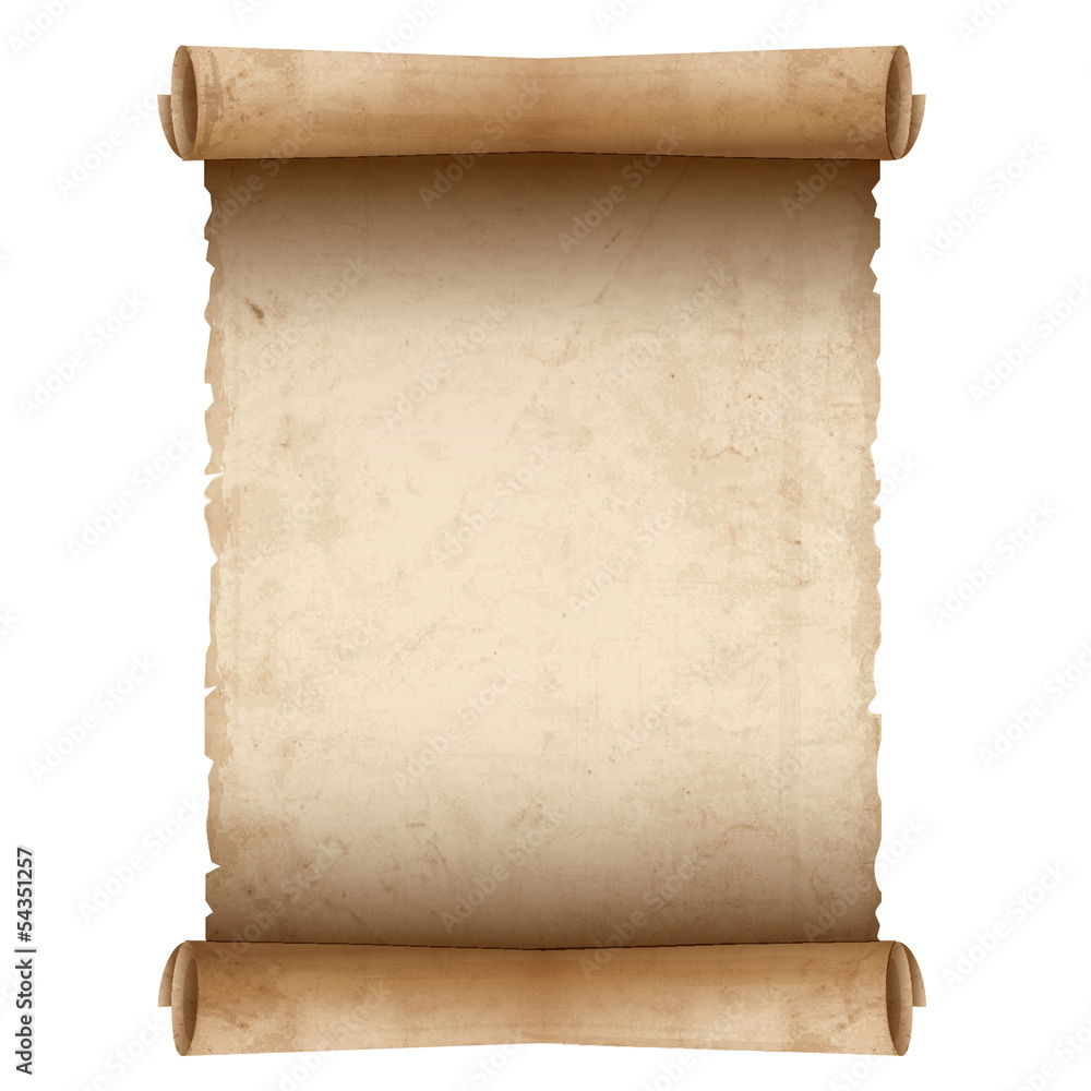 Fototapeta Vector old scroll paper