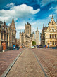 canvas print picture - Nice houses in the old town of Ghent, Belgium