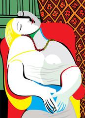 Fototapeta Abstrakcja The Dream Pablo Picasso