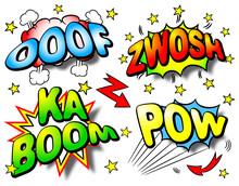 Effect Bubbles With Ooof, Zwosh, Ka Boom, Pow