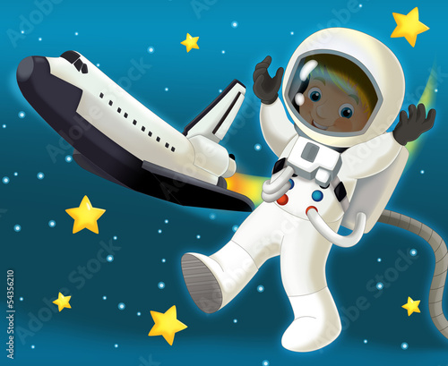 The space journey - happy and funny mood