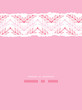 Vector Pink lineart leaves chevron vertical torn seamless