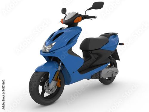 Fotografie, Obraz Modern blue scooter