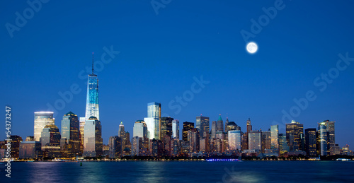 The new Freedom Tower and Lower Manhattan Skyline Poster