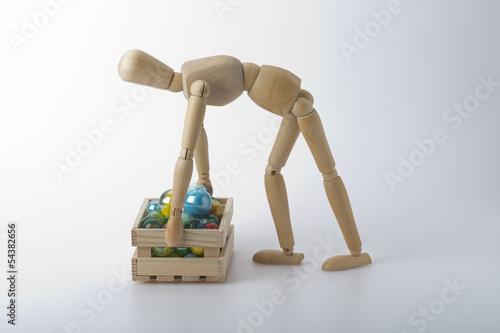 Staande foto Dragen Rückenprobleme