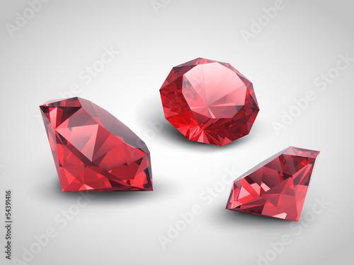 Fotografía  A beautiful ruby gems (vector objects)