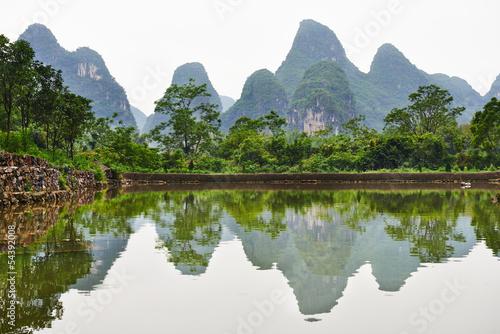 Poster Guilin Guilin karst mountains landscape