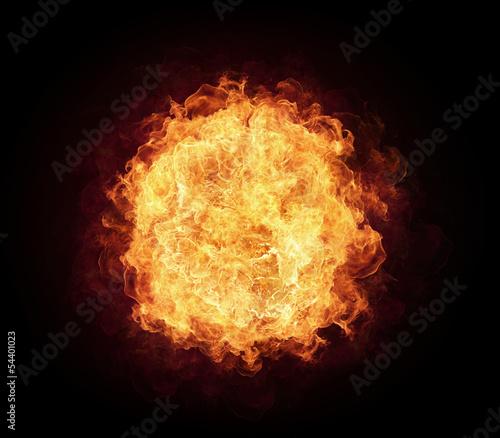 Fotobehang Vuur Fire ball