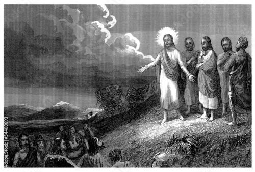 Fotografie, Obraz  Sermon on the Mount - Sermon sur la Montagne