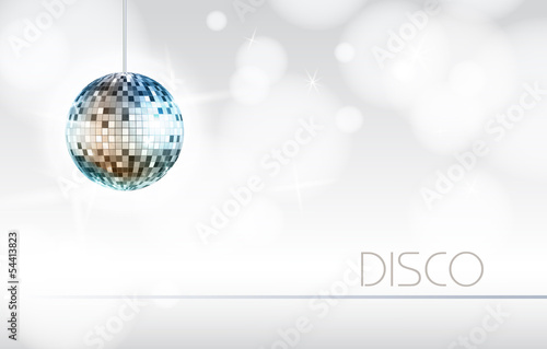 Disco ball. Disco background - 54413823