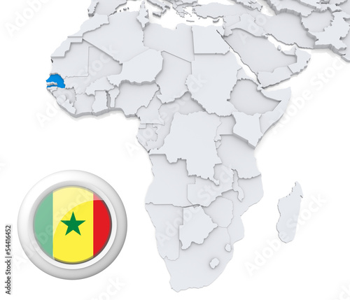 Senegal On Africa Map Buy This Stock Illustration And Explore