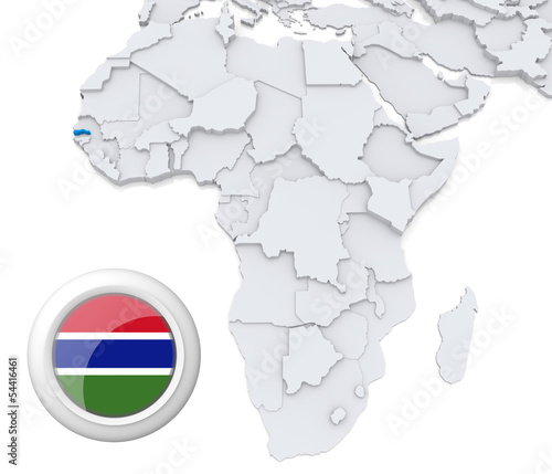 Gambia On Africa Map.Gambia On Africa Map Buy This Stock Illustration And Explore