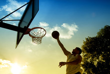 Basketball Player Silhouette A...