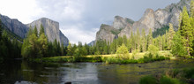Panoramic View Of Merced River...
