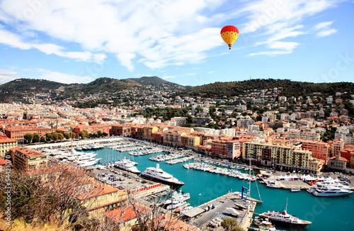 Deurstickers Nice aerial view of the city of Nice France