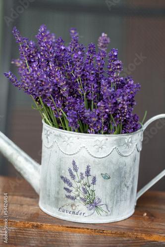 Fototapeta Watering Can and Lavender obraz na płótnie