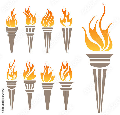 Fotografía  Torch symbol set