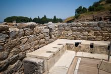 Ancient Public Toilets In Ephesus, Turkey