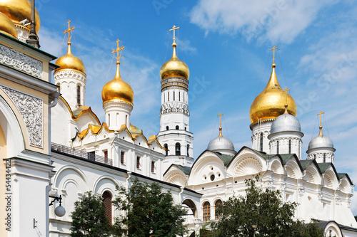 Carta da parati golden domes of Moscow Kremlin Cathedrals