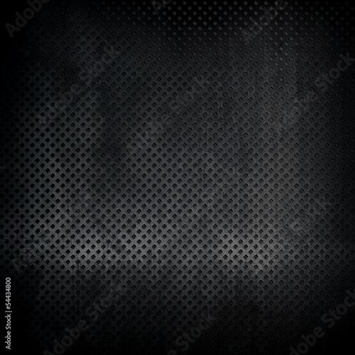 Fotografia, Obraz black metal texture background