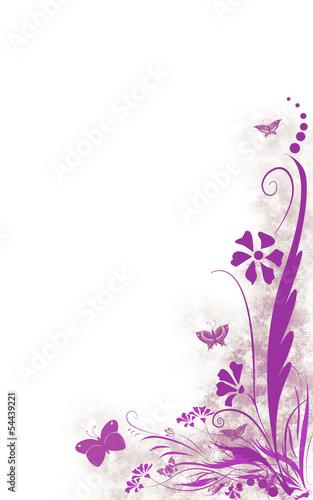 Kwiaty fiolet prawo dół