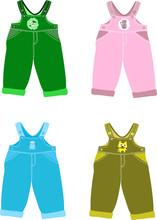 Set Of Overalls For Children