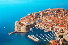Boats At Dubrovnik Old Town Port