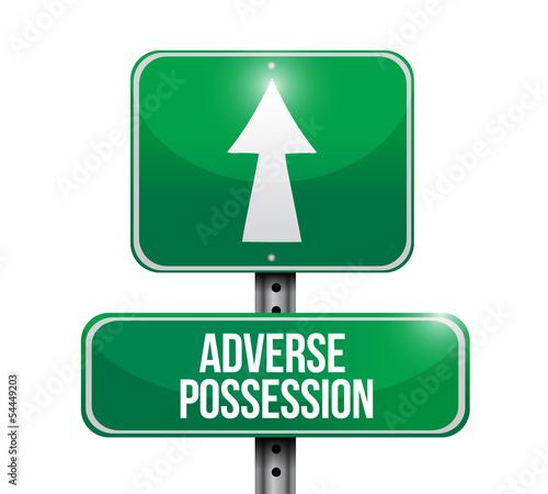adverse possession road sign illustration Canvas Print