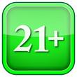 canvas print picture - Green square shiny icon