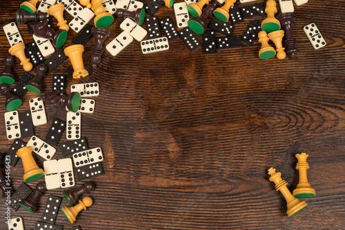 Naklejka na meble Board games still life