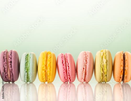 Photographie  colorful macarons