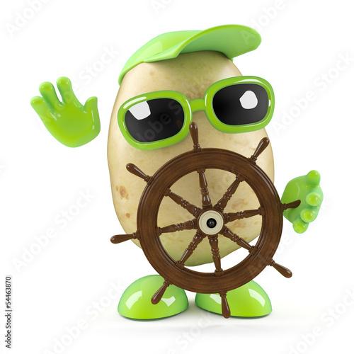 ziemniak-steruje-swoim-statkiem