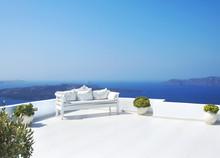 Beautiful Wedding Decoration On Santorini Island