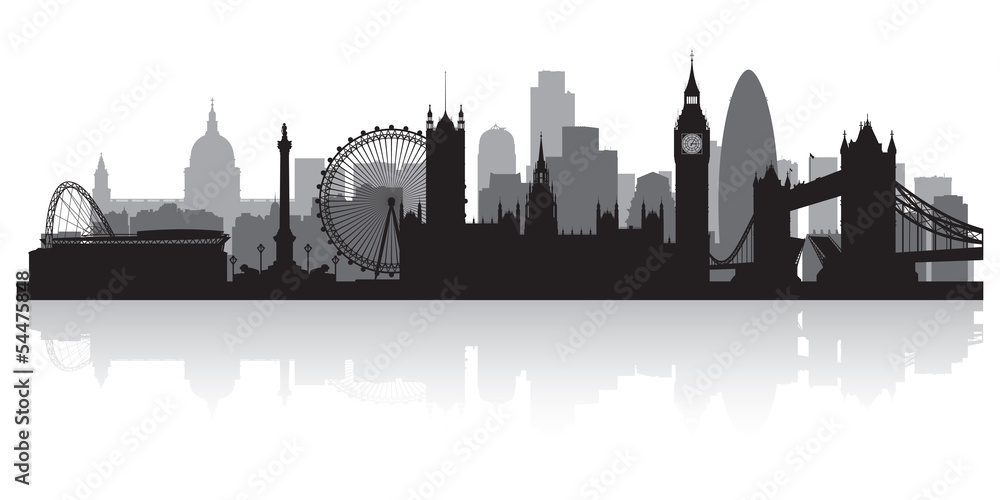 Fototapeta London city skyline silhouette