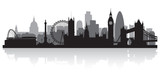 Fototapeta Londyn - London city skyline silhouette