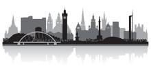 Glasgow City Skyline Silhouette