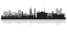 Newcastle City Skyline Silhoue...