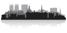 York City Skyline Silhouette