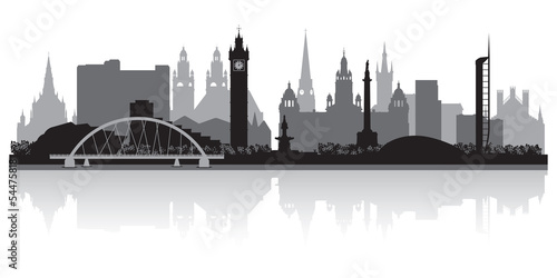 Glasgow city skyline silhouette