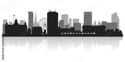 Photo Birmingham city skyline silhouette