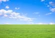 Leinwandbild Motiv 草原と青空