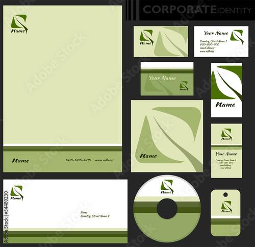 Identyfikacja wizualna firmy, zestaw ekologiczny Poster