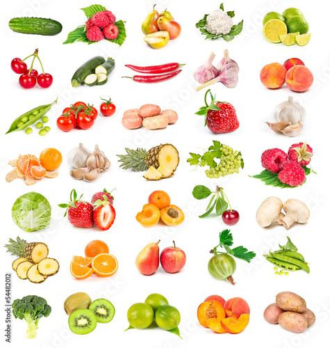 Tuinposter Keuken Set of fresh vegetables and fruits