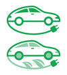 Vector illustration of electric car