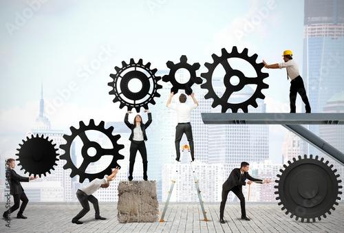 Fotografía  Teamwork of businesspeople