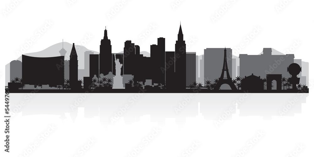 Foto  Las Vegas city skyline silhouette