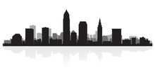 Cleveland City Skyline Silhoue...