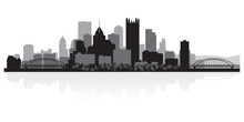 Pittsburgh City Skyline Silhou...