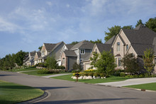 Houses On Upscale Suburban Str...